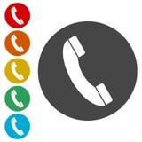 Rozmowa Telefonicza wektoru ikona Styl jest mieszkanie zaokrąglającym symbolem ilustracji