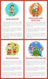 Rozmowa z Święty Mikołaj Wesoło bożymi narodzeniami ilustracji