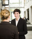 rozmowy kobieta Fotografia Royalty Free