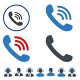 Rozmowy Telefonicza mieszkania ikony zdjęcie stock
