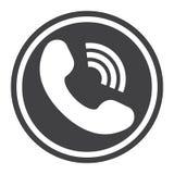 Rozmowy Telefonicza stała ikona, kontaktuje się my i stronę internetową Fotografia Royalty Free