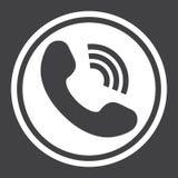 Rozmowy Telefonicza stała ikona, kontaktuje się my i stronę internetową Obrazy Stock