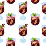 Rozmyślający wina glintwein wzór obrazy royalty free