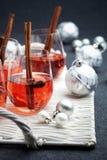 Rozmyślający wino Fotografia Royalty Free