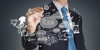 rozmyta biznesowa ostrość inni czerwoni strategii słowa Obraz Stock