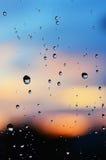 Rozmyta deszcz kropla Obrazy Royalty Free