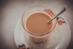 Rozmyta i miękka ostrość z ostrość ranku herbaty i Zdjęcie Stock