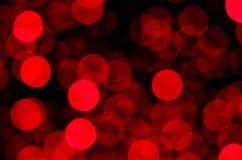 Rozmyty czerwone światło okrąża jarzyć się w zmroku fotografia royalty free