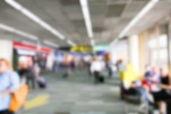 Rozmyty defocused wizerunek pasażer przy lotniskowym terminal Obraz Royalty Free