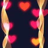 Rozmyty jaskrawy tło z coloured sercami ilustracja wektor