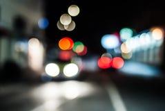 Rozmyty noc ruch drogowy Obraz Royalty Free