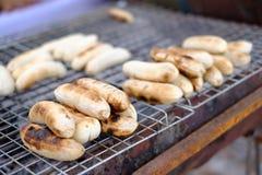 Rozmyty Piec na grillu banan na kuchence Obrazy Royalty Free