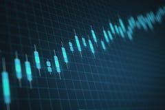 Rozmyty rynek walutowy mapy t?o ilustracji