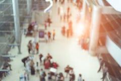Rozmyty tło lotniskowa śmiertelnie i konwencja sala z c zdjęcia royalty free