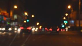 Rozmyty widok nocy światła przy nocą i ulicy zdjęcie wideo