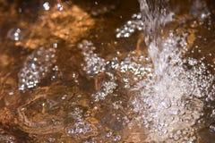 Rozmyty Wodny spadek w ogródzie, abstrakcjonistyczny tło Obraz Royalty Free