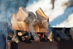 Roznamiętnia notuje dalej grilla outdoors Obrazy Royalty Free