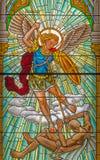 Roznava - Aartsengel Michael van ruit van 19 cent In de kathedraal stock fotografie