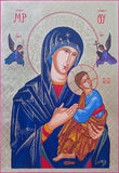 Roznava - The icon of Madonna with the child by Peter Nedoroscik 2004. Stock Photo