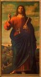 Roznava - Jesus Christ der Lehrer durch Ignaz Spottl (1834 - 1892) in der Kathedrale Stockfoto