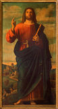 Roznava - Jesus Christ o professor por Ignaz Spottl (1834 - 1892) na catedral foto de stock