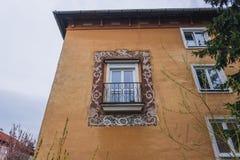 Roznov pod Radhostem. Residential building in Roznov pod Radhostem, small town in Czech Republic stock photos