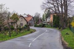 Roznov pod Radhostem. Street and buildings in Roznov pod Radhostem, small town in Czech Republic royalty free stock image