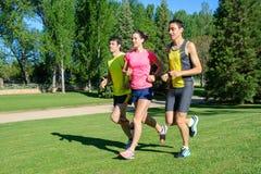 rozochoceni biegacze Zdjęcie Royalty Free