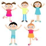 Rozochoceni i szczęśliwi dzieci Zdjęcia Stock