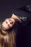 Rozochoceni kobieta śmiechy Obraz Stock