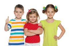 Rozochoceni preschoolers fotografia stock