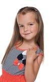 Rozochocona ładna mała dziewczynka Obraz Royalty Free