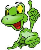 Rozochocona żaba Zdjęcia Royalty Free