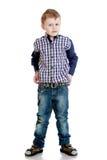 Rozochocona chłopiec zdjęcia stock