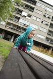 rozochocona dziecko dziewczyna Fotografia Stock
