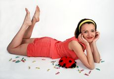 rozochocona dziewczyny miękkiej części zabawka Obraz Stock