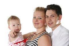 Rozochocona rodzina zdjęcie stock