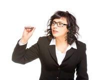 Rozochocona starsza biznesowa kobieta zdjęcie stock