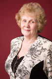 rozochocona starsza kobieta fotografia royalty free