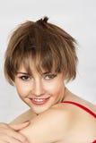 Rozochocona uśmiechnięta dziewczyna Zdjęcie Stock