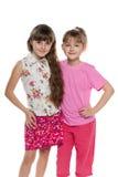 rozochocone dziewczyny dwa fotografia stock