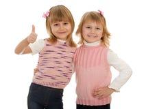 rozochocone dziewczyny trochę dwa obraz stock