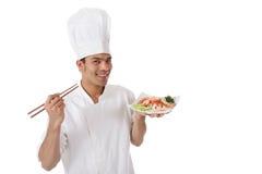 rozochoconego szef kuchni męscy potomstwa Obraz Royalty Free