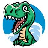 Rozochocony śliczny Dino Zdjęcia Royalty Free