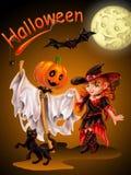 Rozochocony świętowanie Halloween Obraz Royalty Free