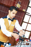 rozochocony arabski barman obraz stock