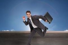 Rozochocony biznesmen w hury Zdjęcia Stock