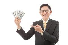 Rozochocony bogaty biznesmen zdjęcia stock