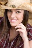 rozochocony cowgirl Obrazy Royalty Free