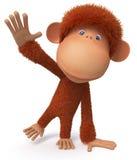 Rozochocony, czerwieni małpa Fotografia Stock